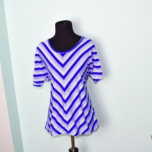 Gorgeous Purple and Lilac Striped Blouse